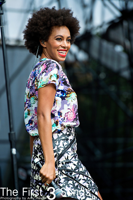 Solange (born Solange Knowles) performs during the 2013 Budweiser Made in America Festival in Philadelphia, Pennsylvania.