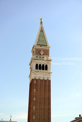 The Campanile, the tallest bell tower in Venice, Italy rises out of the Piazza San Marco on April 16, 2013.  .Credit: Ron Sachs / CNP