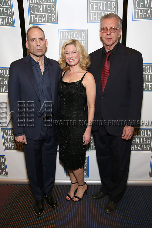 Daniel Oreskes, Angela Pierce and Christopher McHale attend the Opening Night Performance press reception for the Lincoln Center Theater production of 'Oslo' at the Vivian Beaumont Theater on April 13, 2017 in New York City.