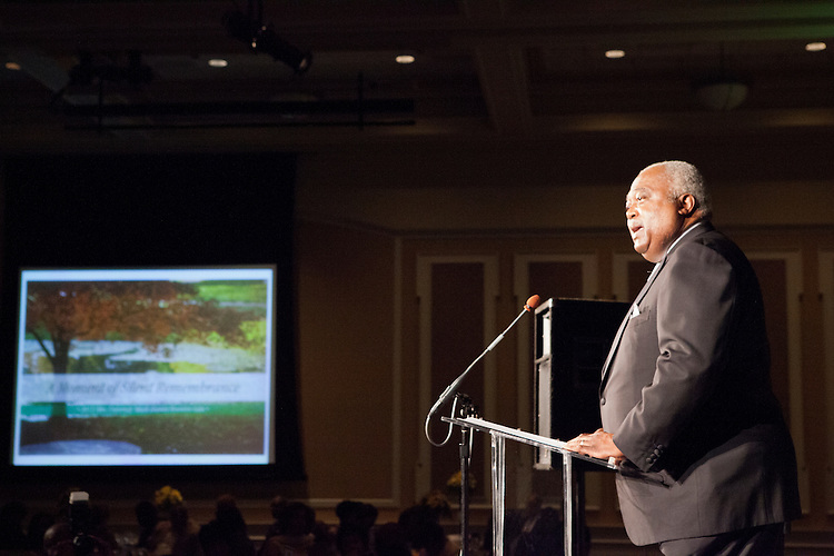 """Hon. William T. Newman Jr. at """"Celebrating Black Heritage at Ohio University Through the Decades"""" at the Black Alumni Reunion Gala in Baker Center on September 28, 2013."""