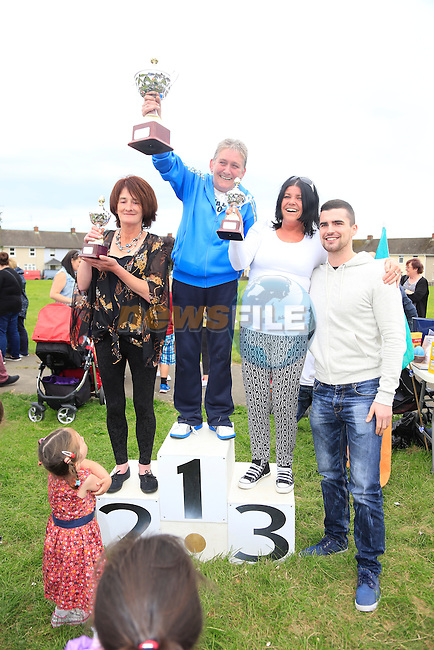 Jinty Farrell, 2 Mary O'Sullivan, 3 Helina Stowe at the yellow batter sports day.<br /> Picture: Fran Caffrey www.newsfile.ie