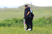 Shane and Brendan Lowry watching Alan Lowry (Esker Hills) on the 1st during Round 1 of The East of Ireland Amateur Open Championship in Co. Louth Golf Club, Baltray on Saturday 1st June 2019.<br /> <br /> Picture:  Thos Caffrey / www.golffile.ie<br /> <br /> All photos usage must carry mandatory copyright credit (© Golffile | Thos Caffrey)