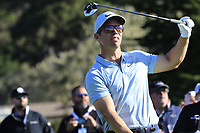 Paul Casey (ENG) tees off the 6th tee during Sunday's Final Round of the 2018 AT&amp;T Pebble Beach Pro-Am, held on Pebble Beach Golf Course, Monterey,  California, USA. 11th February 2018.<br /> Picture: Eoin Clarke | Golffile<br /> <br /> <br /> All photos usage must carry mandatory copyright credit (&copy; Golffile | Eoin Clarke)