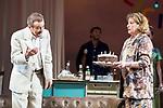 """Juan Diego and Ana Marzoa during theater play of """"Una gata sobre un tejado de Cinc caliente"""" at Reina Victoria theater in Madrid, Spain. March 15, 2017. (ALTERPHOTOS/BorjaB.Hojas)"""