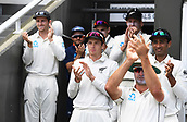 3rd December 2017, Wellington, New Zealand;  New Zealand players congratlulates Tom Blundell on his debut century.<br /> Day 3. New Zealand Black Caps v West Indies. 1st test match of the ANZ International Cricket Season 2017/18 season. Basin Reserve, Wellington,