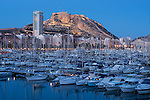 Alicante at sunset, club de regatas, Alicante