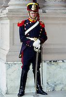 Ceremonial guard at the Presidential Palace Casa Rosada in Buenos Aires, Argentina