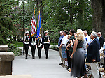 Members of the Carson High School Naval ROTC present colors at a USS Nevada Centennial of Launch ceremony at the Capitol, in Carson City, Nev., on Friday, July 11, 2014.<br /> Photo by Cathleen Allison