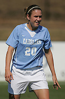 OCT 2, 2005: College Park, MD, USA:  UNC Tarheel forward #20 Heather O'Reilly looks for the ball while playing the Maryland Terrapins at Ludwig Field.  UNC won, 4-0. Mandatory Credit: Photo By Brad Smith (c) Copyright 2005 Brad Smith