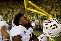 EUGENE, OR - September 22, 2018: Stanford Football wins over Oregon in overtime, 38-31 at Autzen Stadium.