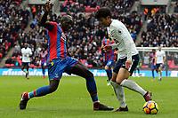 Son Heung-Min of Tottenham Hotspur and Mamadou Sakho of Crystal Palace during Tottenham Hotspur vs Crystal Palace, Premier League Football at Wembley Stadium on 5th November 2017