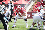 Wisconsin Badgers offensive lineman Tyler Biadasz (61) during an NCAA College Football game against the Florida Atlantic Owls Saturday, September 9, 2017, in Madison, Wis. The Badgers won 31-14. (Photo by David Stluka)
