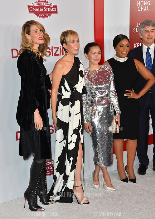 Laura Dern, Kristen Wiig, Hong Chau, Niecy Nash &amp; Alexander Payne at the special screening of &quot;Downsizing&quot; at the Regency Village Theatre, Westwood, USA 18 Dec. 2017<br /> Picture: Paul Smith/Featureflash/SilverHub 0208 004 5359 sales@silverhubmedia.com