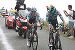 White Jersey Egan Bernal (COL) Team Ineos and Emanuel Buchmann (GER) Bora-Hansgrohe on Prat d'Albis during Stage 15 of the 2019 Tour de France running 185km from Limoux to Foix Prat d'Albis, France. 20th July 2019.<br /> Picture: Colin Flockton | Cyclefile<br /> All photos usage must carry mandatory copyright credit (© Cyclefile | Colin Flockton)