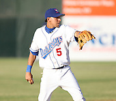 2007:  Luis Sanchez of the Auburn Doubledays throws to first while playing shortstop vs. the Williamsport Crosscutters in New York-Penn League baseball action.  Photo copyright Mike Janes Photography 2007.