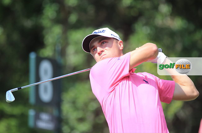 Justin Thomas (USA)  during the Second Round of The Players, TPC Sawgrass, Ponte Vedra Beach, Jacksonville.   Florida, USA. 13/05/2016.<br /> Picture: Golffile | Mark Davison<br /> <br /> <br /> All photo usage must carry mandatory copyright credit (&copy; Golffile | Mark Davison)