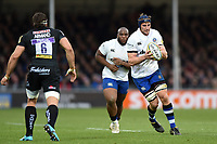 Paul Grant of Bath Rugby in possession. Aviva Premiership match, between Exeter Chiefs and Bath Rugby on December 2, 2017 at Sandy Park in Exeter, England. Photo by: Patrick Khachfe / Onside Images