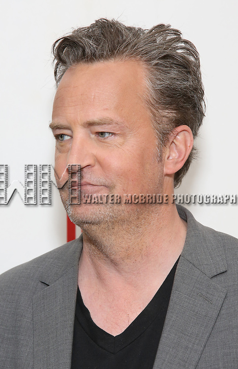 Matthew Perry attend 'The End Of Longing' cast photocall at Roundabout Rehearsal Studio on April 20, 2017 in New York City.