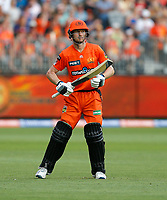 26th December 2019; Optus Stadium, Perth, Western Australia, Australia;  Big Bash League Cricket, Perth Scorchers versus Sydney Sixers; Cameron Bancroft of the Perth Scorchers makes his way out to the middle after the fall of the first wicket - Editorial Use