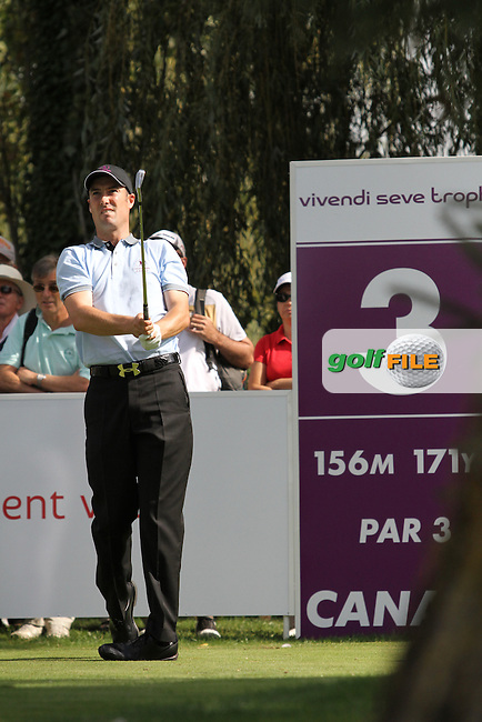 Ross Fisher (ENG) on the second tee playing Match 2 on Day 1 of the Vivendi Seve Trophy at Golf De Saint-Nom-La-Breteche, France...Photo Golffile/Jenny Matthews.(Photo credit should read Jenny Matthews www.golffile.ie)....This Picture has been sent you under the conditions enclosed by:.Newsfile Ltd..The Studio,.Millmount Abbey,.Drogheda,.Co Meath..Ireland..Tel: +353(0)41-9871240.Fax: +353(0)41-9871260.GSM: +353(0)86-2500958.email: pictures@newsfile.ie.www.newsfile.ie.
