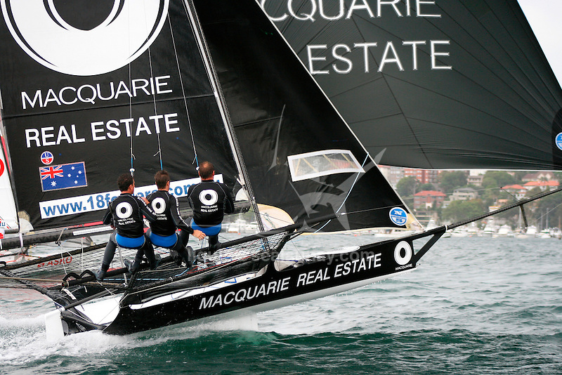 18 Ft Skiff Australian Championship 2008 in the Sydney Harbour.