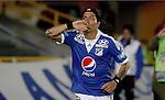 BOGOTÁ – COLOMBIA _ 19-10-2013 / En compromiso correspondiente a la decimoquinta fecha del Torneo Clausura Colombiano 2013, Millonarios se impuso 1 – 0 ante Deportivo Cali en el estadio Nemesio Camacho el Campín de Bogotá. / Dayro Moreno celebra el único tanto del compromiso.