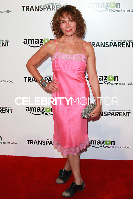 LOS ANGELES, CA, USA - SEPTEMBER 15: Jennifer Grey arrives at the Los Angeles Premiere Of Amazon Studios' 'Transparent' held at the Ace Hotel on September 15, 2014 in Los Angeles, California, United States. (Photo by David Acosta/Celebrity Monitor)