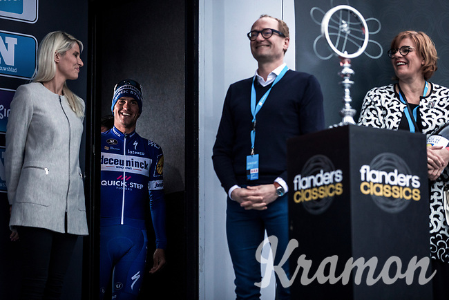 race winner Zdenek Stybar (CZE/Deceuninck-Quick Step) <br /> <br /> 74th Omloop Het Nieuwsblad 2019 (BEL)<br /> Gent – Ninove: 200km<br /> ©kramon