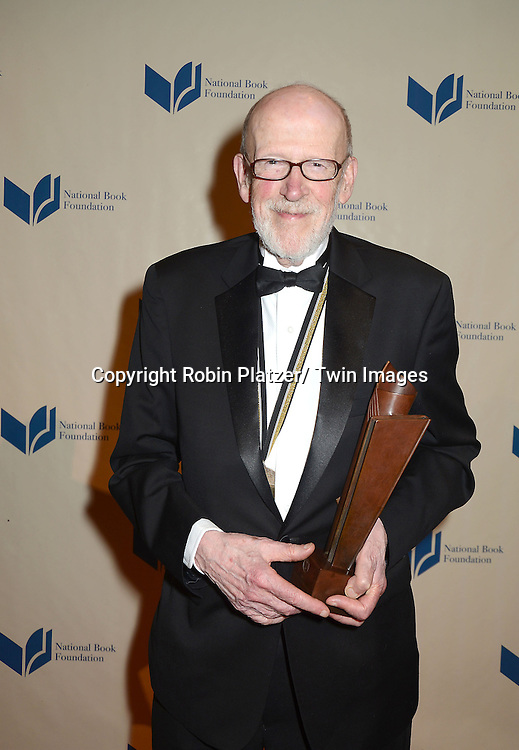 winner David Ferry for poetry attends the 2012 National Book Awards Dinner and Ceremony on November 14, 2012 at Cipriani Wall Street in New York City.