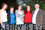 BIRTHDAY: Denise O'Rourke Ballyduff who clelebrated her 25th brithday in Kate Brownes Bar & Restaurant, Ardfert on Saturday with her family, L-r: Michelle O'Rourke, Monique Flanagan, Denise o'Rourke (birthday lady), Noelle O'Rourke and Jerry Flanagan.