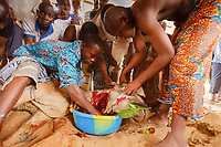 Afica,Togo,Lomè,woodoo Gorò celebration in the Ebè district, by spiritual chief Yema Sossou Djegnon - celebrazione del voodoo Gorò, nel quartiere Ebè di Lomè in Togo, tenuti dal capo spirituale Yema Sossou Djegnon