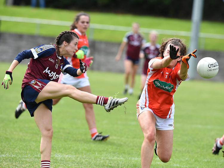 Westmeath Ciara Blundell Armagh Clodagh McCambridge. Photo:Colin Bell/pressphotos.ie