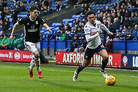 Bolton Wanderers' Antonee Robinson gets away from Fulham's Lucas Piazon<br /> <br /> Photographer Andrew Kearns/CameraSport<br /> <br /> The EFL Sky Bet Championship - Bolton Wanderers v Fulham - Saturday 10th February 2018 - Macron Stadium - Bolton<br /> <br /> World Copyright &copy; 2018 CameraSport. All rights reserved. 43 Linden Ave. Countesthorpe. Leicester. England. LE8 5PG - Tel: +44 (0) 116 277 4147 - admin@camerasport.com - www.camerasport.com