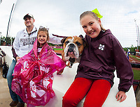 Super Bulldog Weekend Softball vs. LSU: fans with Bully Jak.<br /> (photo by Russ Houston / &copy; Mississippi State University)