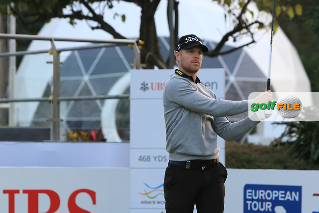 Jens Dantrop (SWE) on the 1st tee during Round 1 of the UBS Hong Kong Open, at Hong Kong golf club, Fanling, Hong Kong. 23/11/2017<br /> Picture: Golffile | Thos Caffrey<br /> <br /> <br /> All photo usage must carry mandatory copyright credit     (&copy; Golffile | Thos Caffrey)