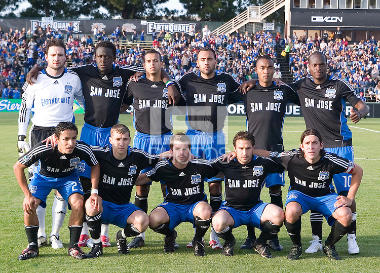 10 May 2008: Earthquakes' starters pose together for a group picture before the game against the Crew at Buck Shaw Stadium in San Jose, California.   Columbus Crew defeated San Jose Earthquakes, 3-2.