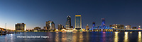 63412-01010 St. Johns River and Jacksonville Florida skyline at twilight Jacksonville, FL