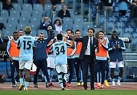 Football, Serie A: S.S. Lazio - Spal, Olympic stadium, Rome, February 2, 2020. <br /> Lazio's Habeeb Omobolaji Adekanye (r) celebrates after scoring with his coach Simone Inzaghi (l) during  the Italian Serie A football match between S.S. Lazio and Spali at Rome's Olympic stadium, Rome , on February 2, 2020. <br /> UPDATE IMAGES PRESS/Isabella Bonotto
