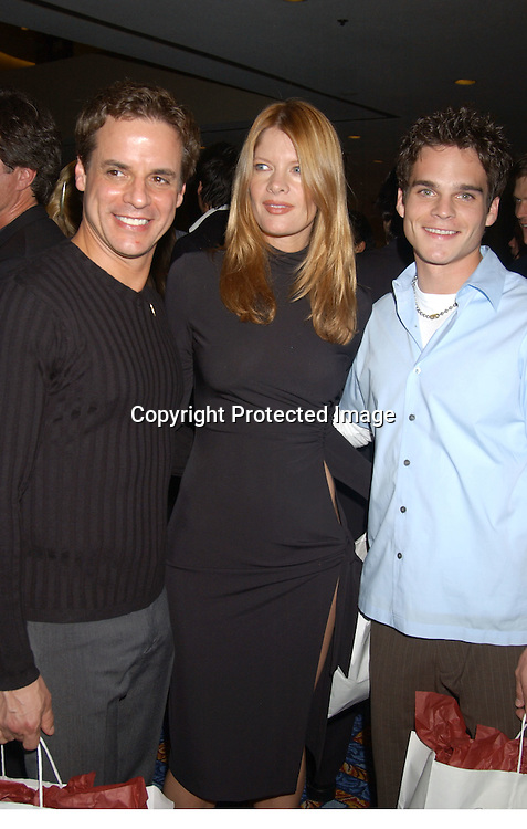 Christian Leblanc, Michelle Stafford and Greg Rikaart                                ..at the Ninth Annual Daytime Television salutes St. Jude Children's Research Hospital benefit in New York City on ..October 10, 2003  at the Marriott Marquis Hotel. ..Photo by Robin Platzer, Twin Images