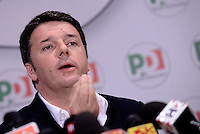 Roma, 6 Giugno 2016<br /> Matteo Renzi in conferenza stampa al Nazareno sui risultati delle elezioni.<br /> Prime Minister Matteo Renzi gives a press conference day after the first round of the mayoral elections.