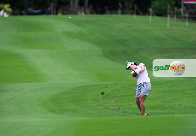 Caroline Masson (GER) on the 10th fairway during Round 1 of the Honda LPGA Thailand on Thursday 23rd February 2017.<br /> Picture:  Thos Caffrey / Golffile