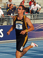 Nick Adcock finishes the Mens Decathlon with the 1500 meter run.