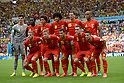 Belgium team group line-up (BEL),<br /> JUNE 22, 2014 - Football / Soccer :<br /> Belgium team group shot (Top row - L to R) Thibaut Courtois, Romelu Lukaku, Axel Witsel, Marouane Fellaini, Daniel Van Buyten, Vincent Kompany, (Bottom row - L to R) Toby Alderweireld, Kevin De Bruyne, Eden Hazard, Thomas Vermaelen and Dries Mertens before the FIFA World Cup Brazil 2014 Group H match between Belgium 1-0 Russia at Estadio do Maracana in Rio de Janeiro, Brazil. (Photo by FAR EAST PRESS/AFLO)
