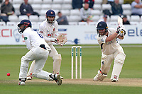 Varun Chopra of Essex takes evasive action as Paul Strling hits out during Essex CCC vs Middlesex CCC, Specsavers County Championship Division 1 Cricket at The Cloudfm County Ground on 29th June 2017