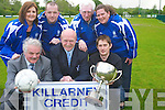 Pictured at the launch of the Killarney Athletic Seven-a-side tournament which will start on July 1st were George McSweeeny, Killarney Credit Union, Tom Tobin, Killarney Athletic, Colm Foley, Collette Casey, Damien McCormick, Don O'Donoghue and Mary McCarrick.