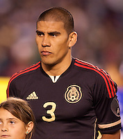 Mexico national team defender Carlos Salcido (3). The national teams of Mexico and Venezuela played to a 1-1 draw in an International friendly match at  Qualcomm stadium in San Diego, California on  March 29, 2011...