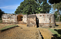 Ruins of the Fortaleza de la Concepcion with arrow slits and tower, a defensive fortress ordered to be built in 1494 by Christopher Columbus at Vega Vieja, Dominican Republic, in the Caribbean. The brick fort was completed in 1502, but most of it was destroyed in an earthquake in 1562. Picture by Manuel Cohen