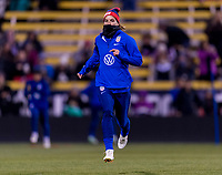 COLUMBUS, OH - NOVEMBER 07: Tobin Heath #17 of the United States warms up during a game between Sweden and USWNT at Mapfre Stadium on November 07, 2019 in Columbus, Ohio.