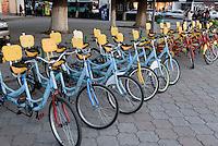 Leihfahrr&auml;der in Bishkek, Kirgistan, Asien<br /> hire bike, Bishkek, Kirgistan, Asia