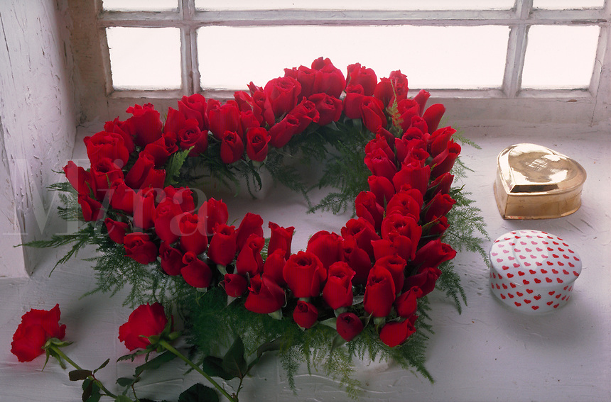 Heart of roses wreath.